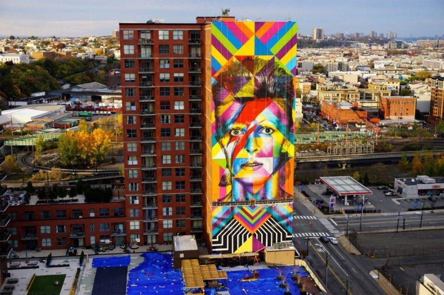 mural de David Bowie en Nueva York