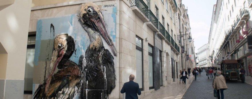 Pelícanos, lo nuevo de Bordalo II en Lisboa