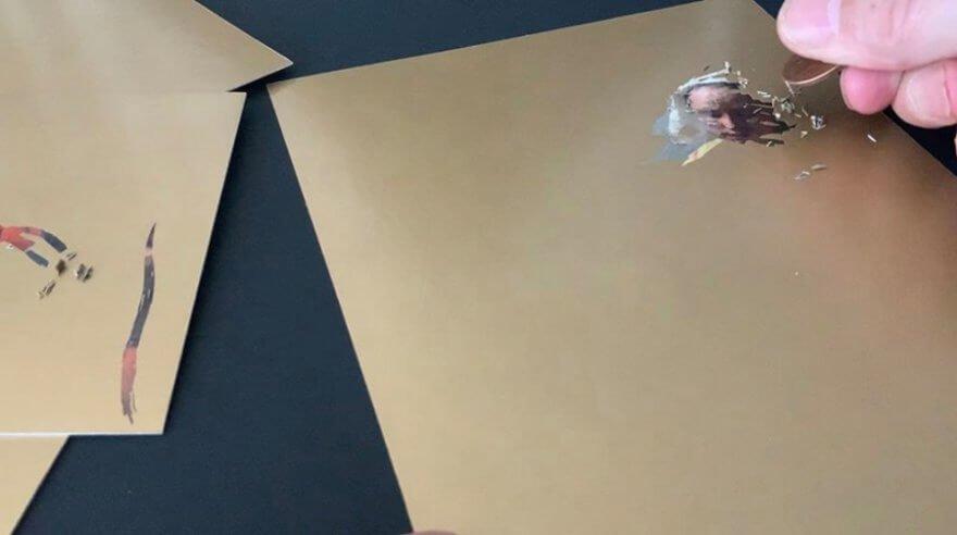 Tarjetas de Soltani Leclercq esconden obras de arte