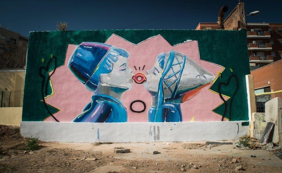 la artista española dejó un mural en la clausura del festival