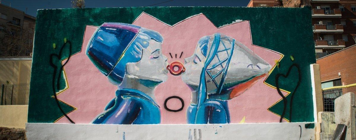 Ana Barriga presentó mural en la clausura de TÀPIA