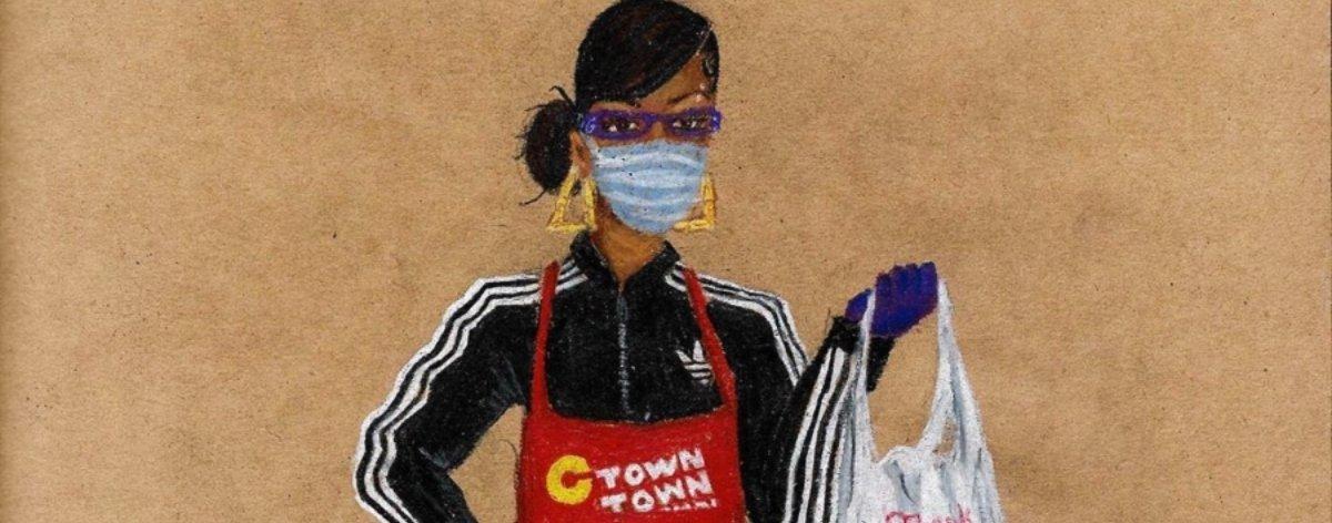 Aya Brown rinde homenaje a trabajadoras del Covid-19