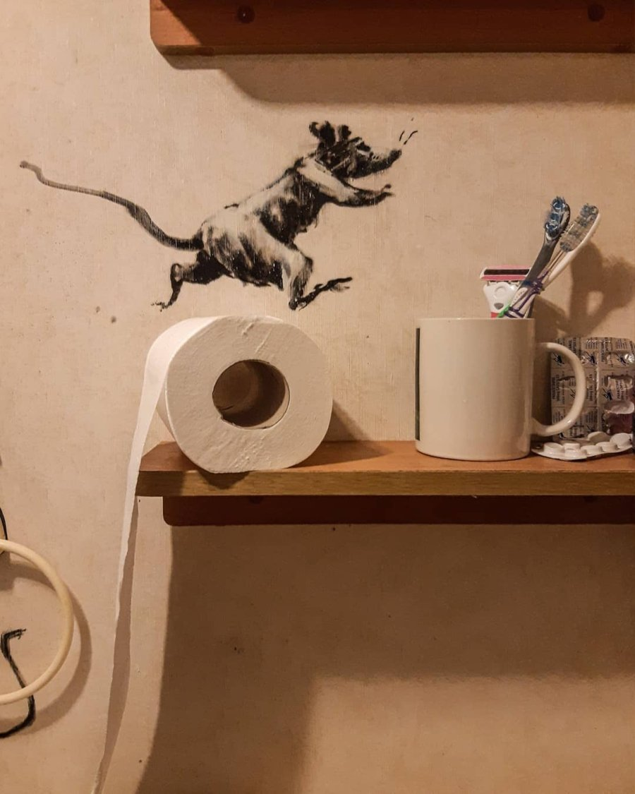 "el artista presentó ""Rat Bathroom Installation"""