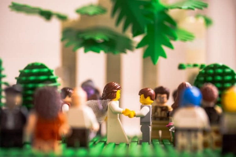 Bodas LEGO por Chris Wallace