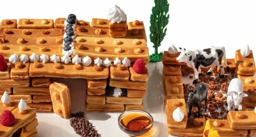 Building Brick Waffle Maker: LEGO para desayunar