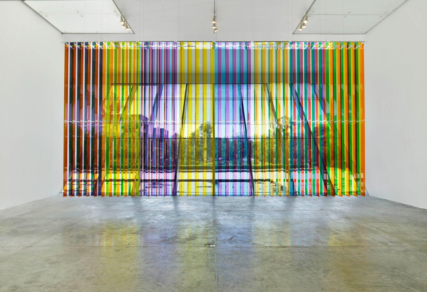 obra de Carlos Cruz-Diez en el MUAC de la UNAM