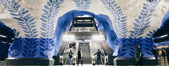 Arte en el metro de Estocolmo, otro atractivo turístico