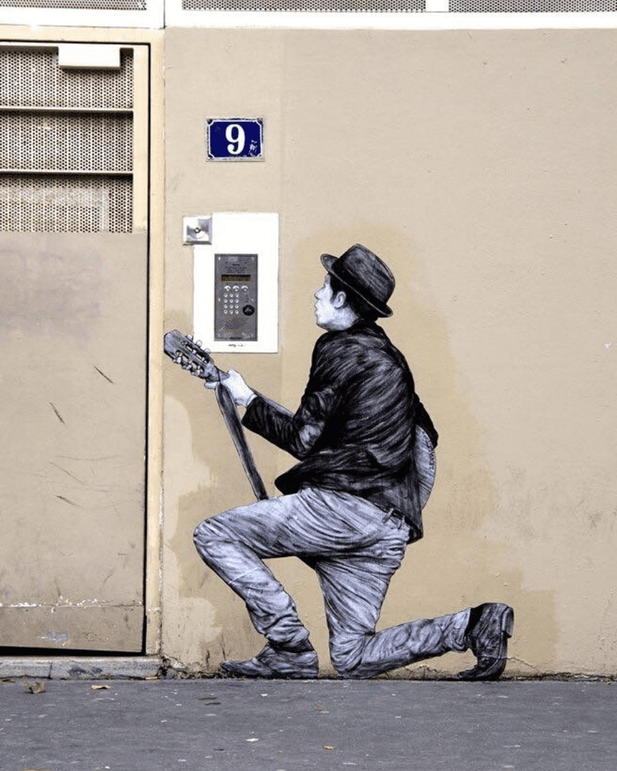 obra de street art de Levalet en PArís