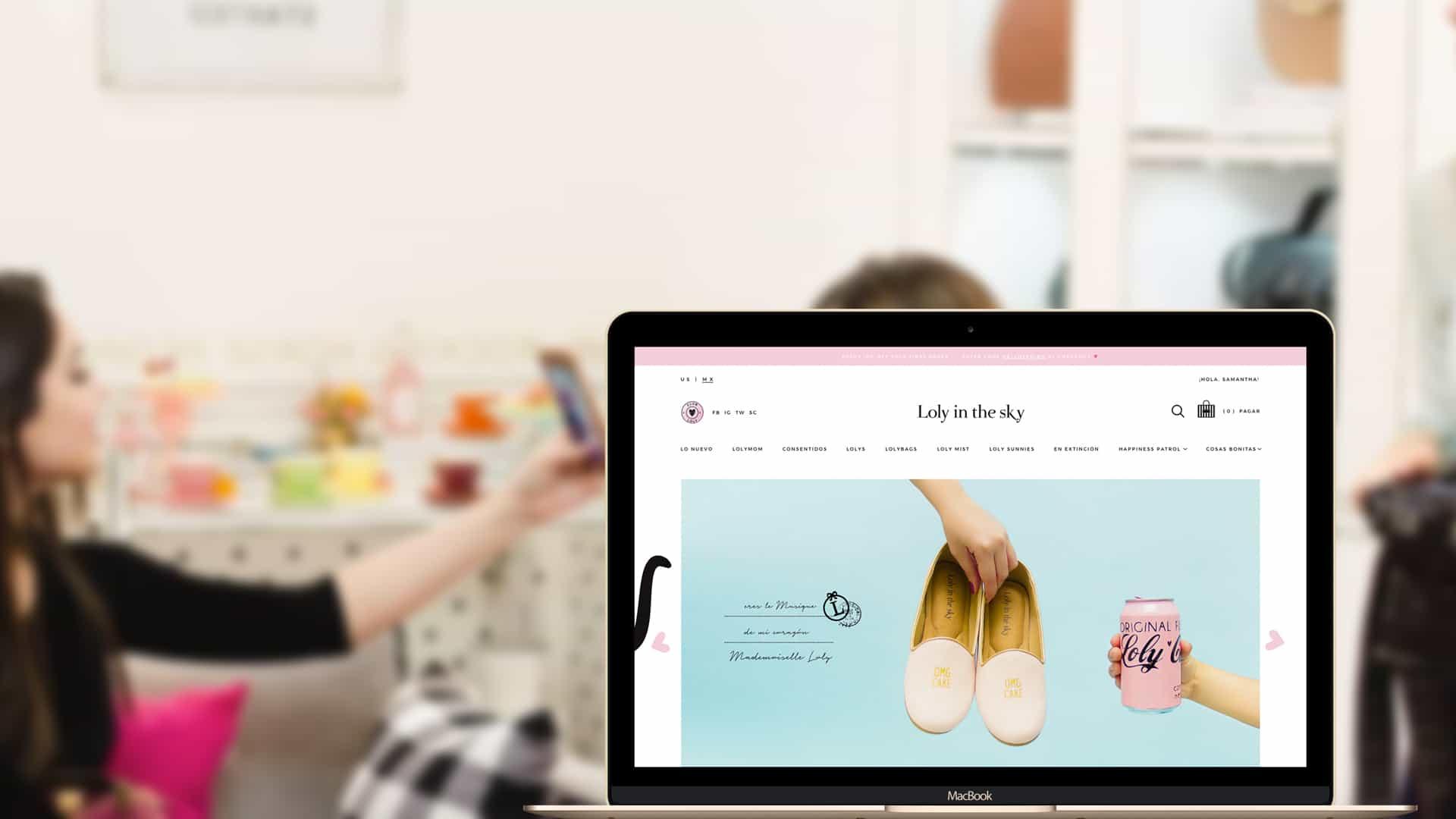 Diseño web para Loly in the Sky
