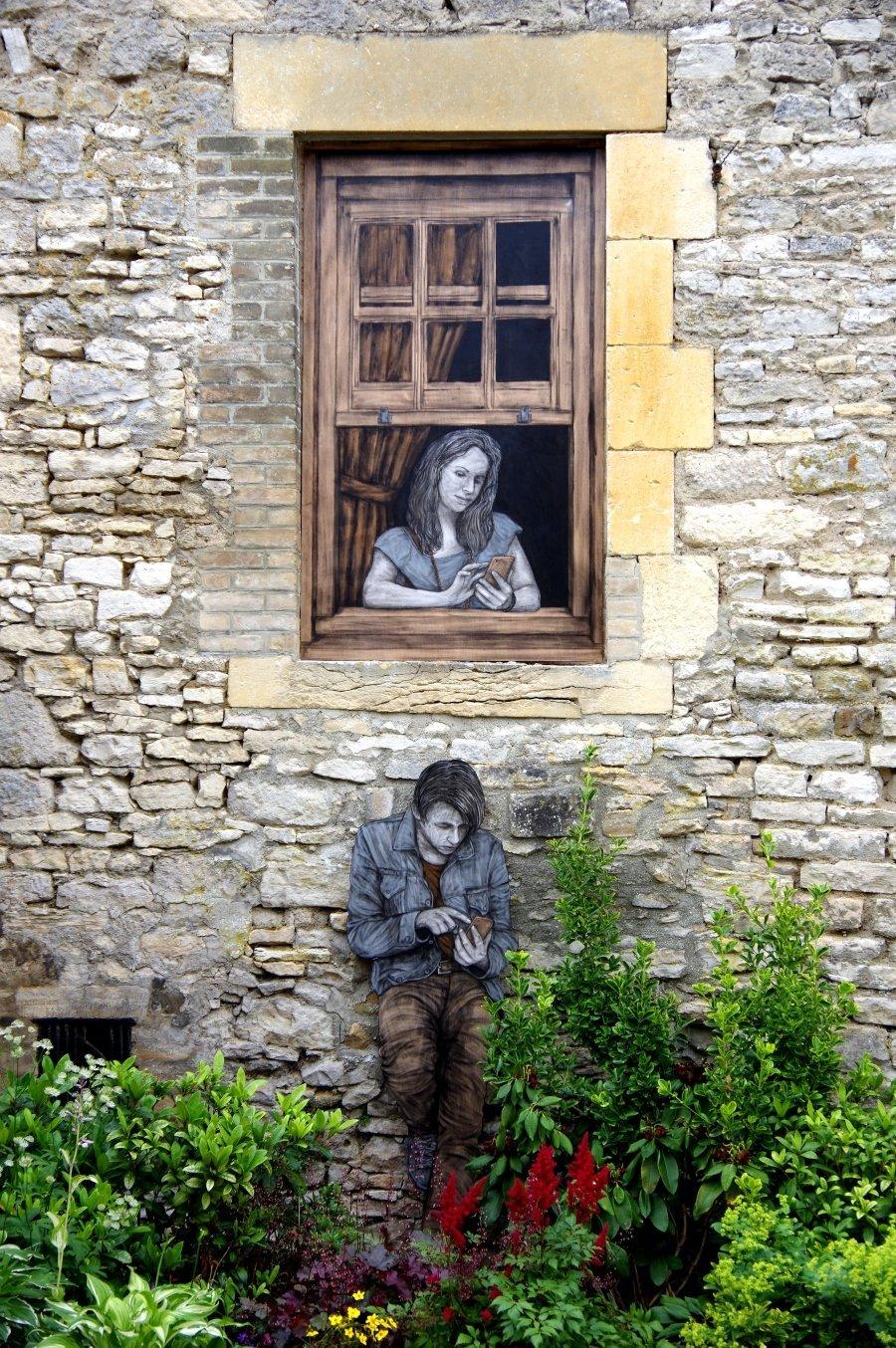 Street art Romeo y Julieta