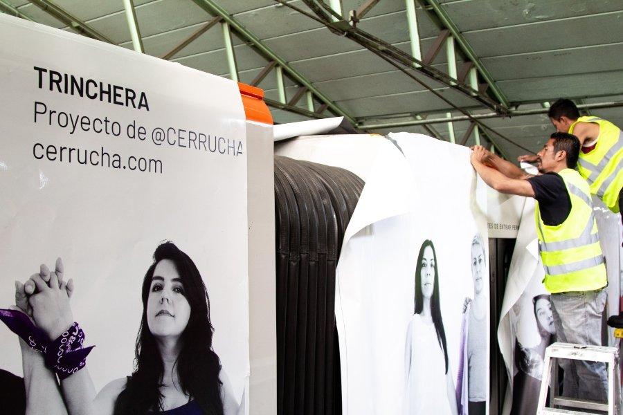"""Cerrucha presentó su proyecto de arte público """"Trinchera"""""""