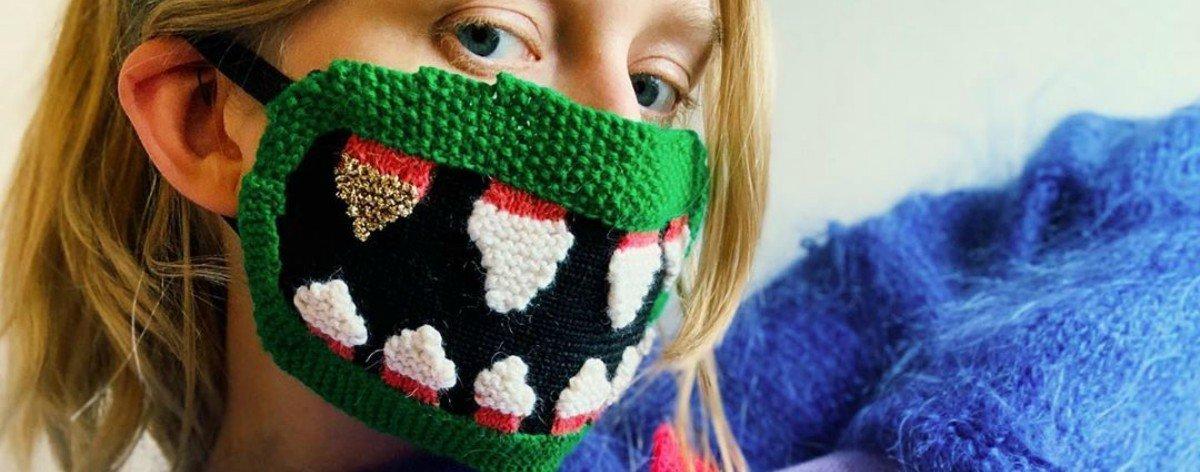 Textile face masks by the artist Ýrúrarí