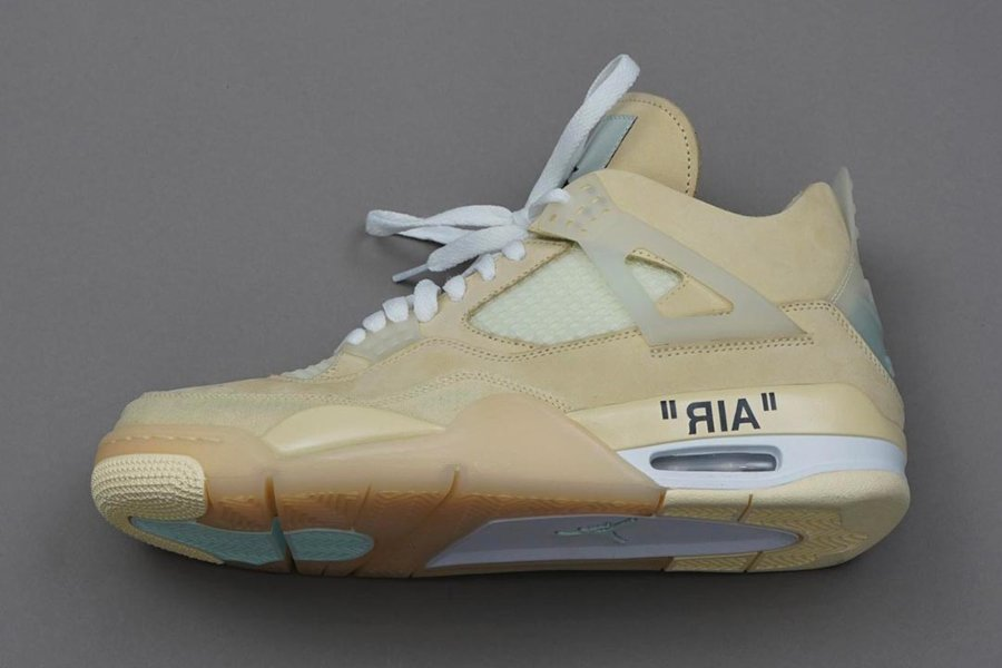 Aspect of the Air Jordan 4 Sail by Off-White
