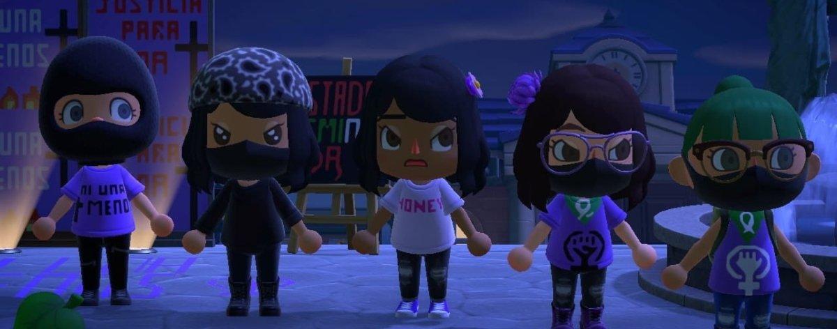 Animal Crossing en protesta contra feminicidios