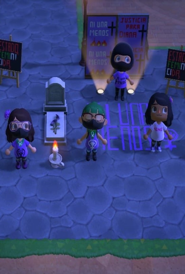 Animal Crossing en protesta contra feminicidios