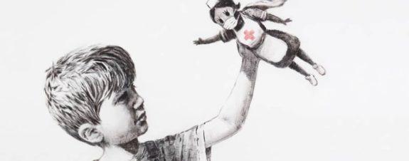 Banksy reaparece con obra en hospital
