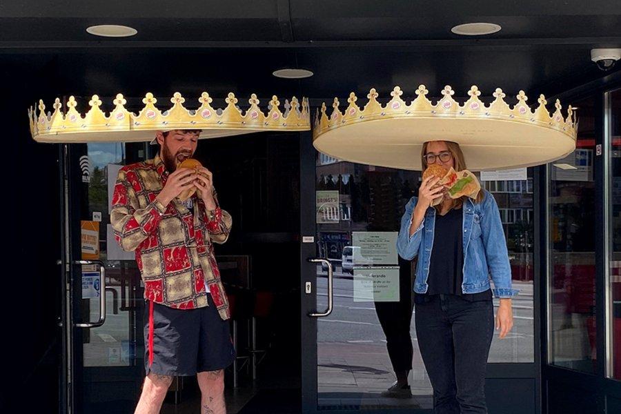 Cortonas de burger king promueven el distanciamiento social
