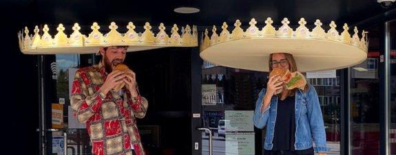 Coronas Burger King promueven sana distancia