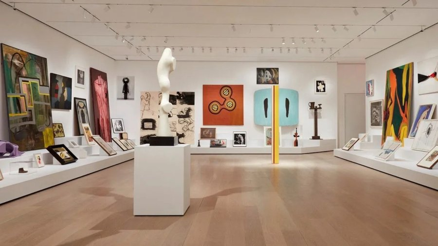 Interiors of New York's Museum of Contemporary Art