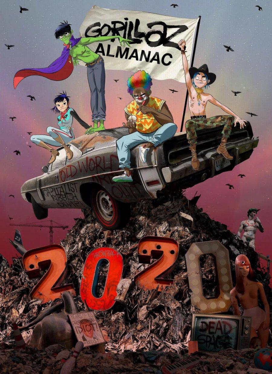Portada de Gorillaz Almanac, el cómic de Gorillaz