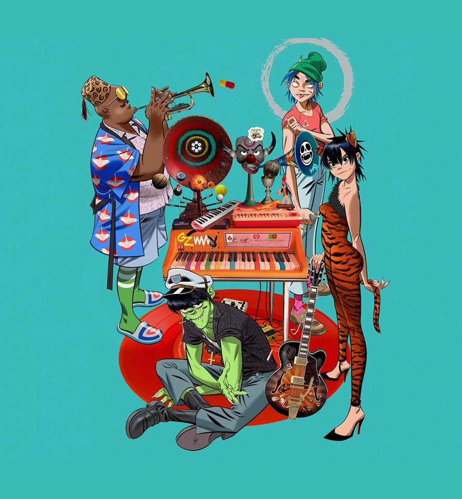 Gorillaz promoting Song Machine