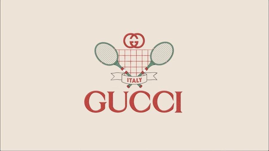 Logo de la colaboración entre Gucci y Tennis Clash