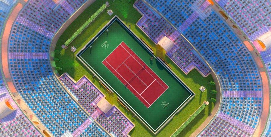 Estadio del evento Gucci Open en Tennis Clash