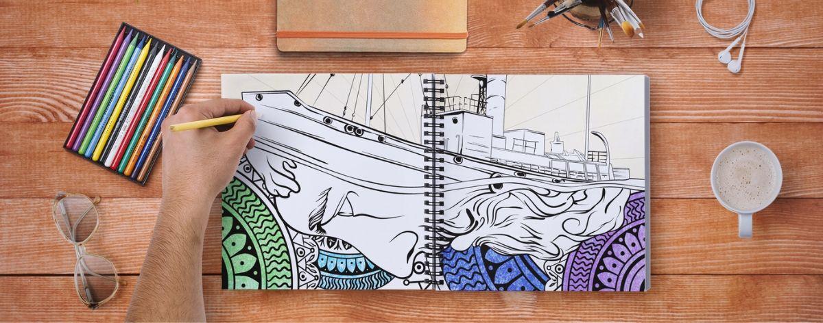 Libros para colorear hechos por artistas urbanos y diseñadores