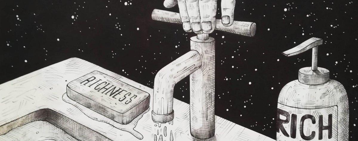 Luca Ledda presenta un print que increpa al consumismo