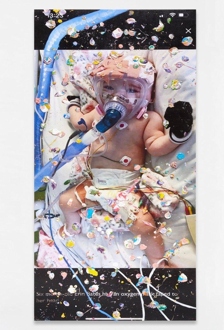 Marc Quinns y sus 'Viral Paintings' con noticias del Covid-19