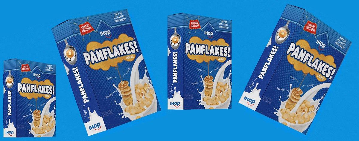 IHOP lanza Panflakes, el cereal de hot cakes