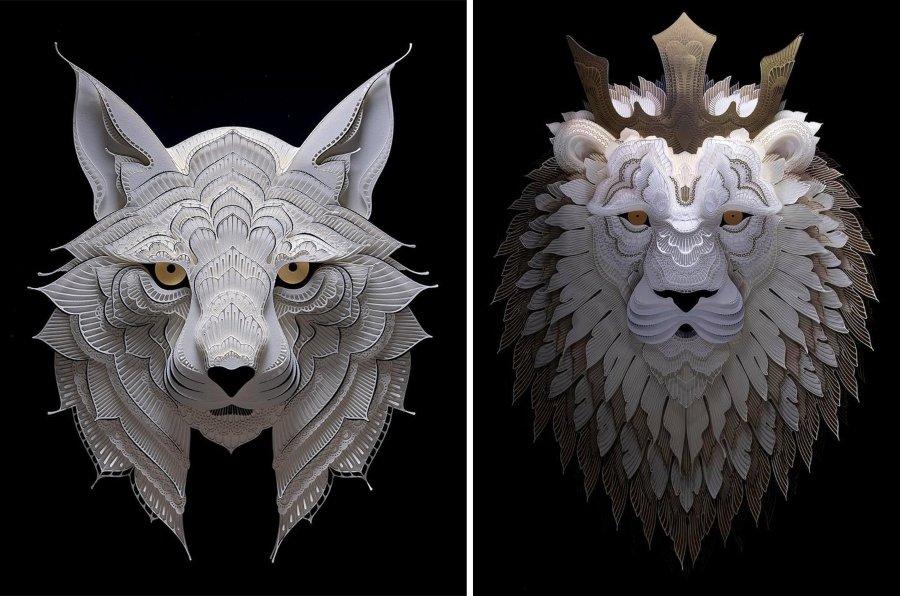 El artista filipino crea increíbles esculturas de papel