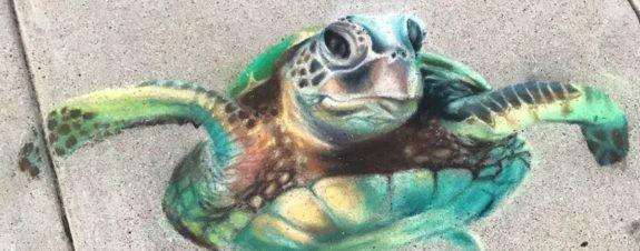 Pinturas en 3D hechas con gis por este dúo de artistas