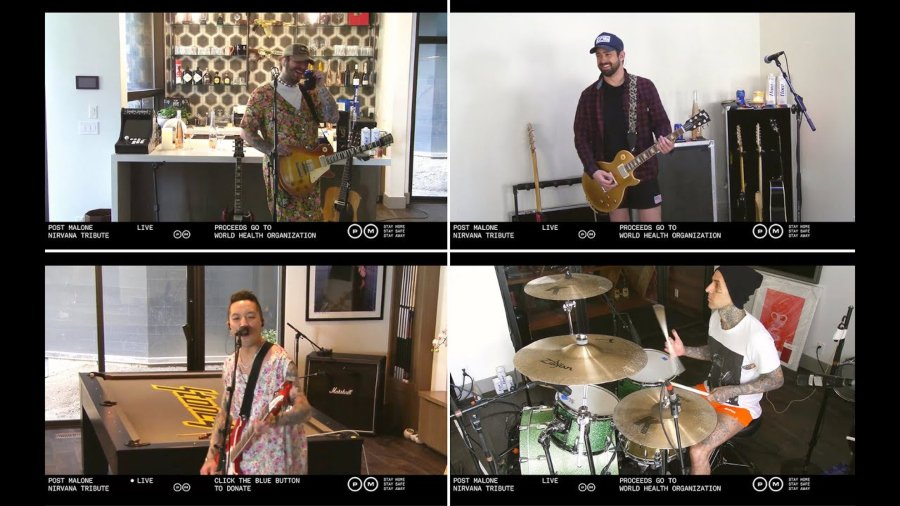 Streaming de Post Malone en tributo a Nirvana