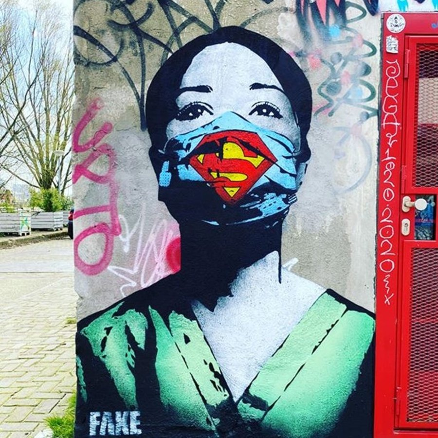 Street art con mensajes positivos