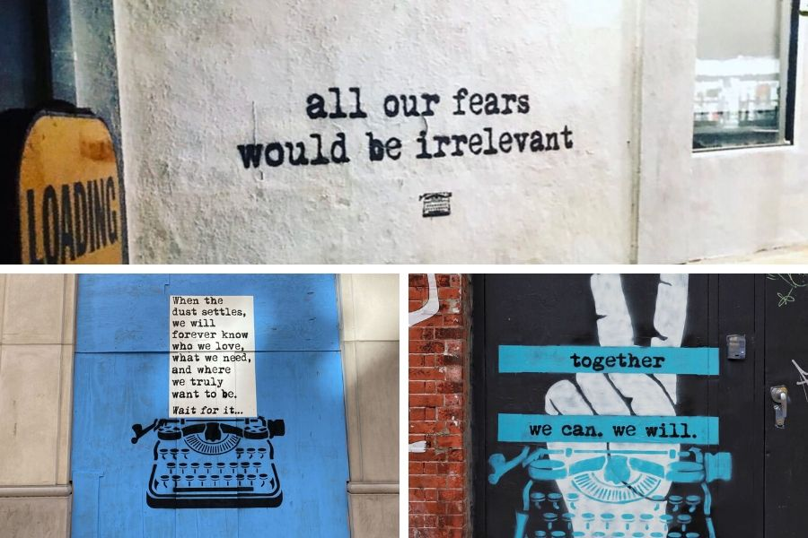 Street art con mensajes positivos en el mundo
