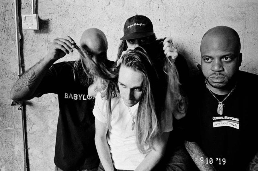 Retrato de los integrantes de la banda de punk hardcore Trash Talk