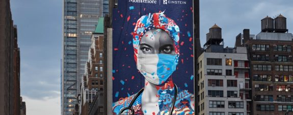 Tristan Eaton and Obey pay hommage to health workers