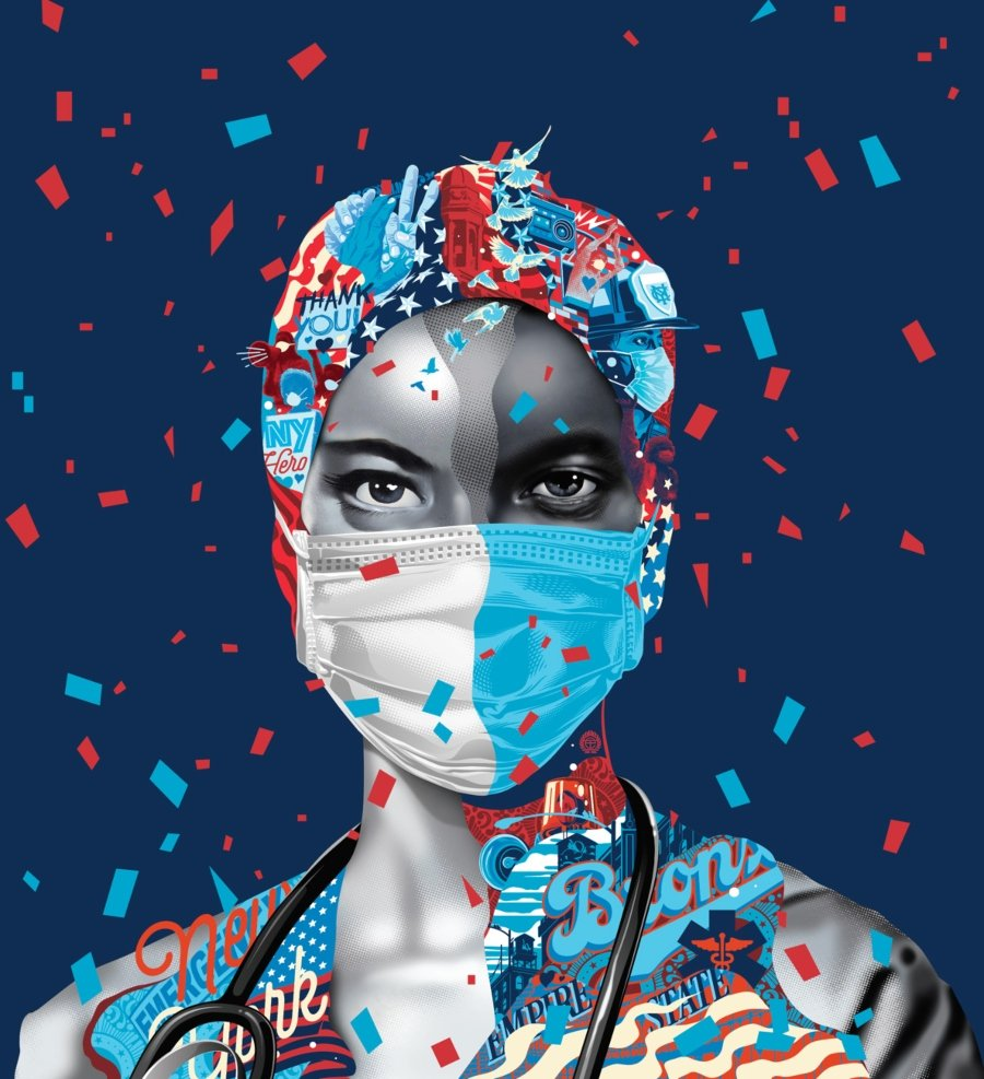Tristan Eaton and Obey pay tribute to health workers