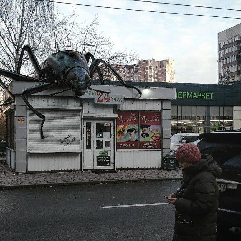 El artista ruso invade San Petersburgo con sus animales gigantes