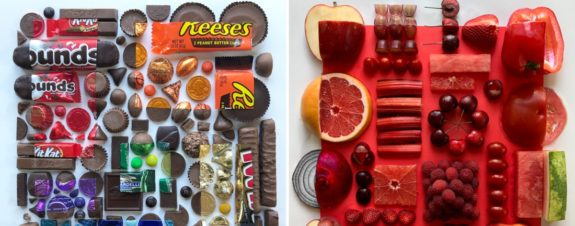 Adam Hillman presenta su arte con comida