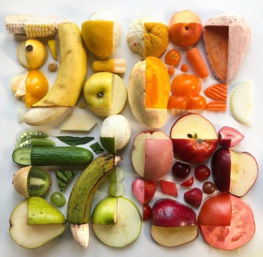 Composición con frutas por Adam Hillman