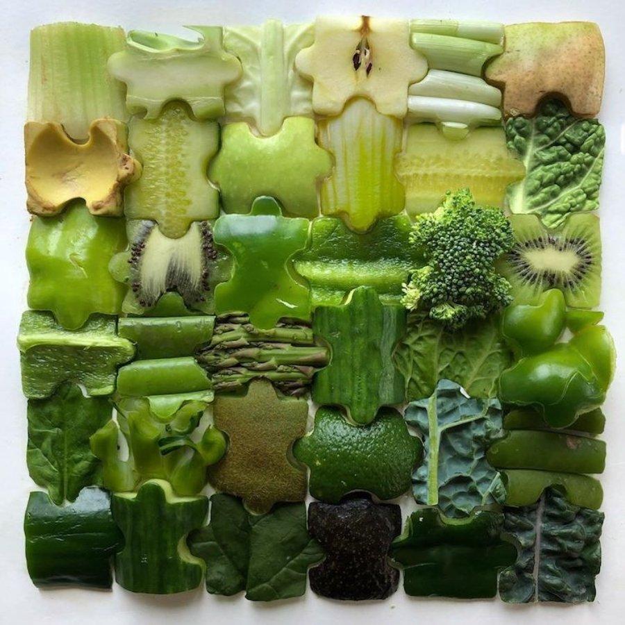 Composición con frutas verdes por Adam Hillman