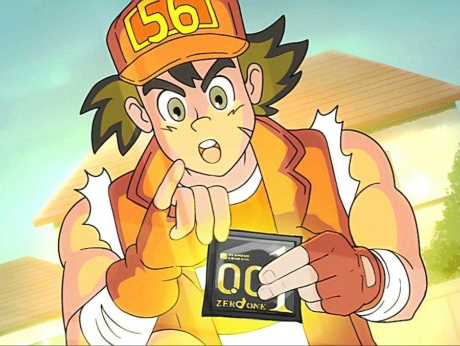 Goro,de la serie animada que promueve el uso del condón