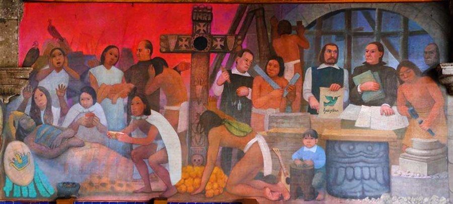 """Mural """"Historia de la medicina en México"""""""