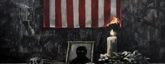 Banksy presenta obra en honor George Floyd