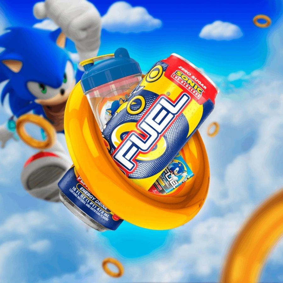 apariencia de la lata oficial de la bebída energética de Sonic con G Fuel