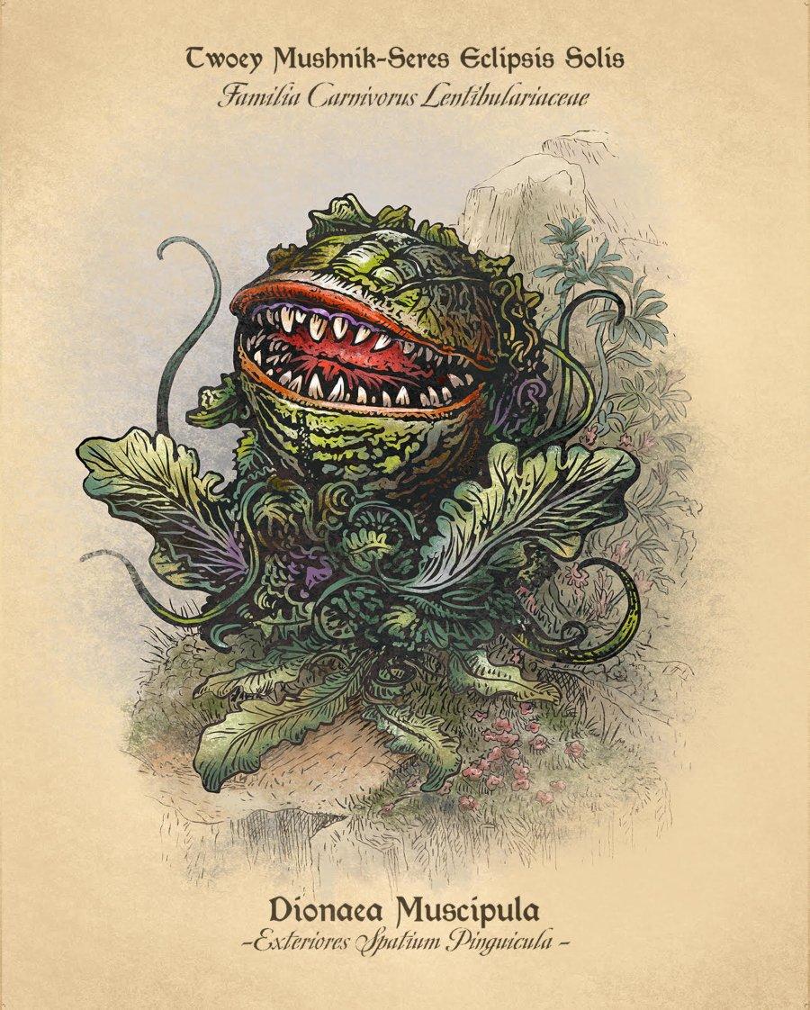 Planta ilustrada al estilo de Chet Phillips