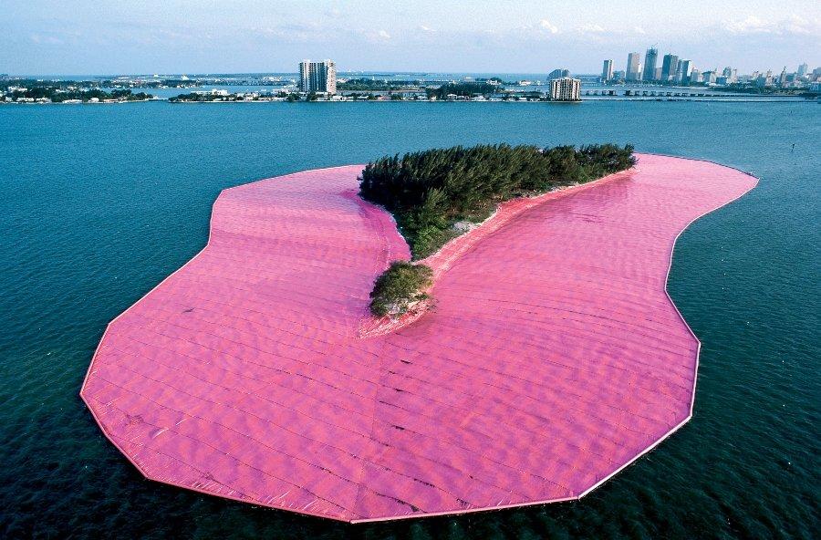 Instalación del artista en Florida