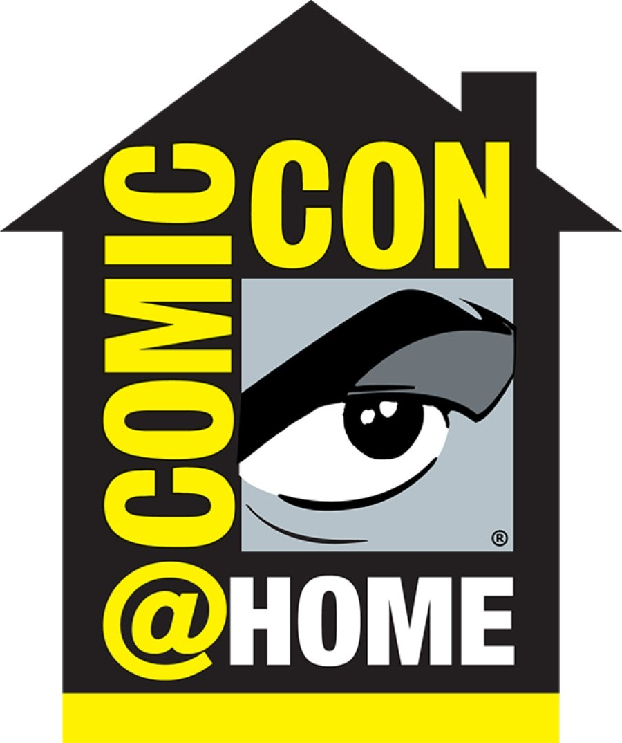 Logo oficial de Comic con at Home